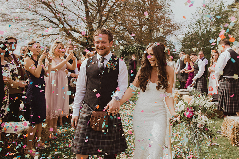Wedding confetti shot