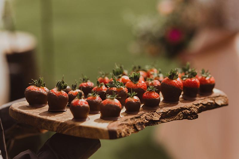 Wedding reception food platter