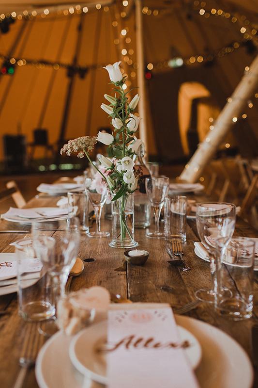 Wedding reception table decorations