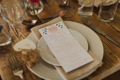 Hartree Wedding Menu