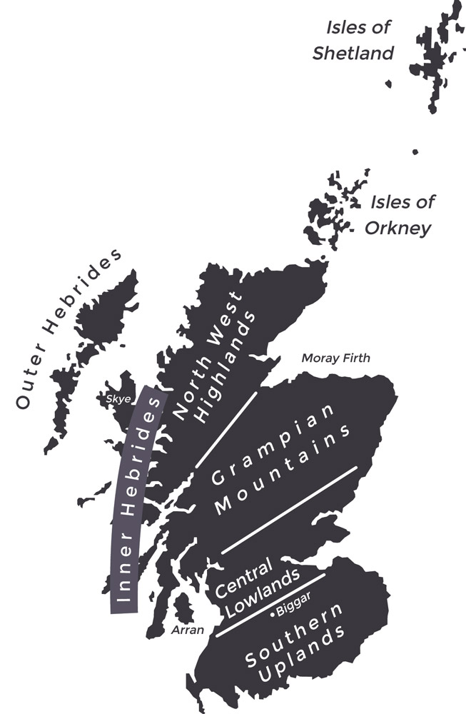 Map of Scottish Highlands and Islands