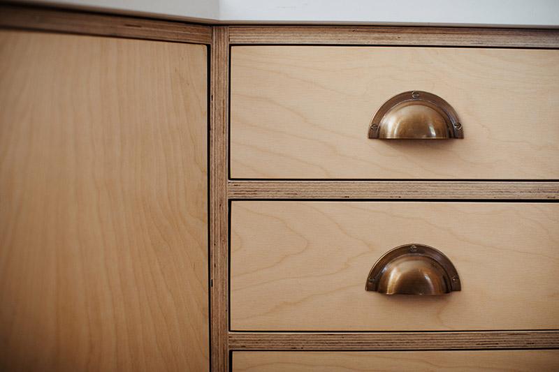 Custom made wooden kitchen units