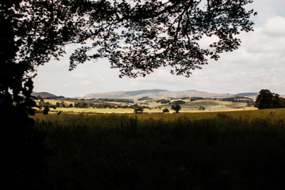 Scottish landscape view of hills