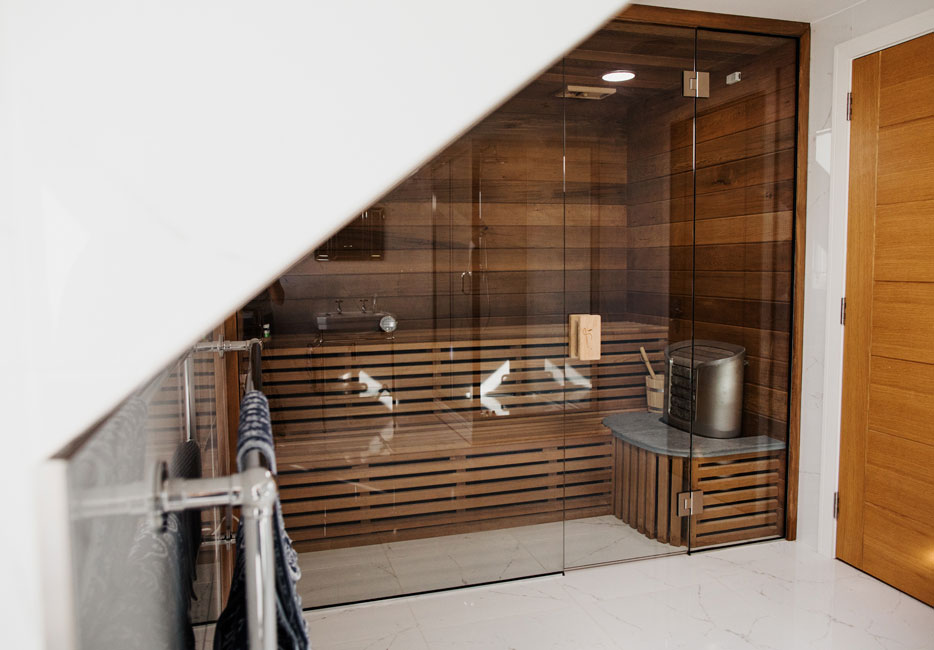 Sauna in the Penthouse at Hartree Estates